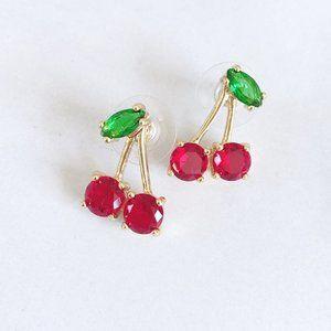 Kate Spade Garnet Red Zircon Inlaid Cherry Earring